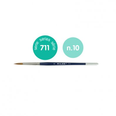 PincelFine Selection redondo mango corto serie 711 n/º 00 6 unidades